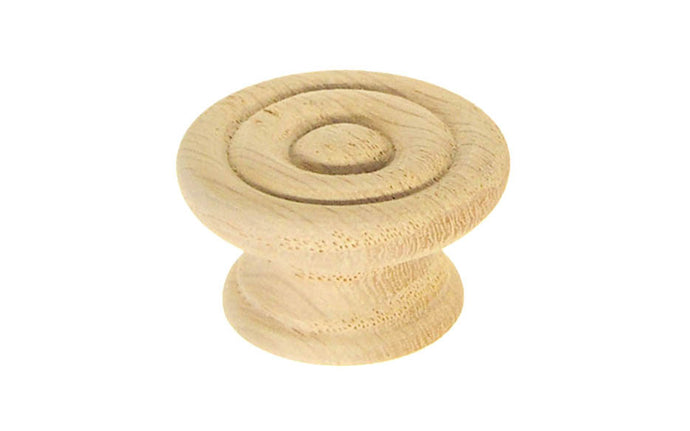 Oak Wood Knob with Ring-Design