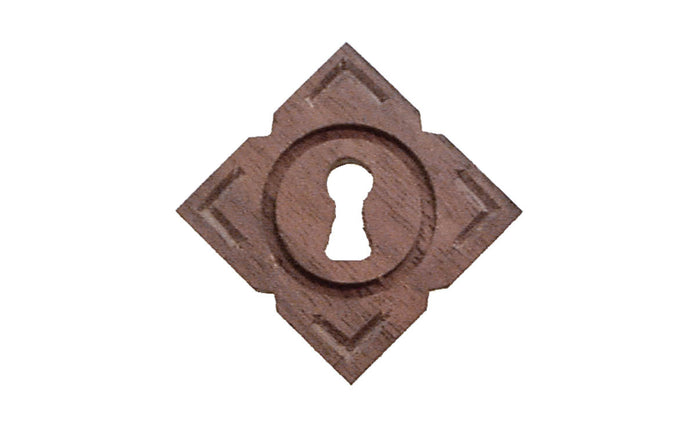 Diamond Shape Walnut Wood Keyhole