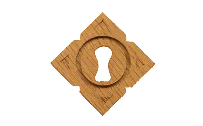 Diamond Shape Oak Wood Keyhole