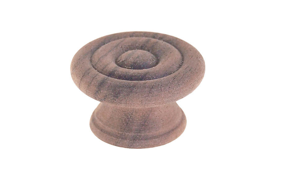 Walnut Wood Knob with Smooth Ring-Design