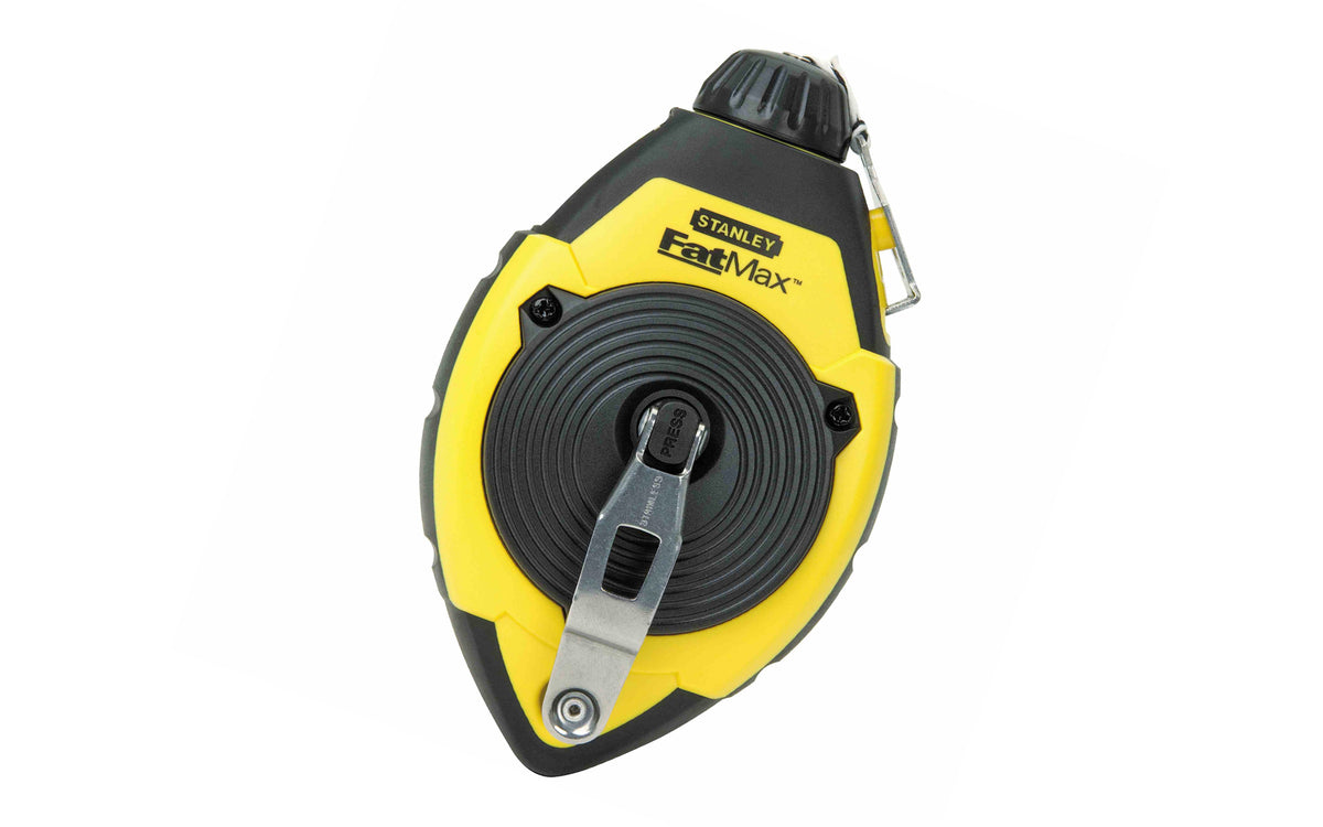 Stanley FatMax 100' Chalk Line Reel ~ 47-140 - This chalk box is great for wood, concrete, drywall, & more. 100' (30 m) long line