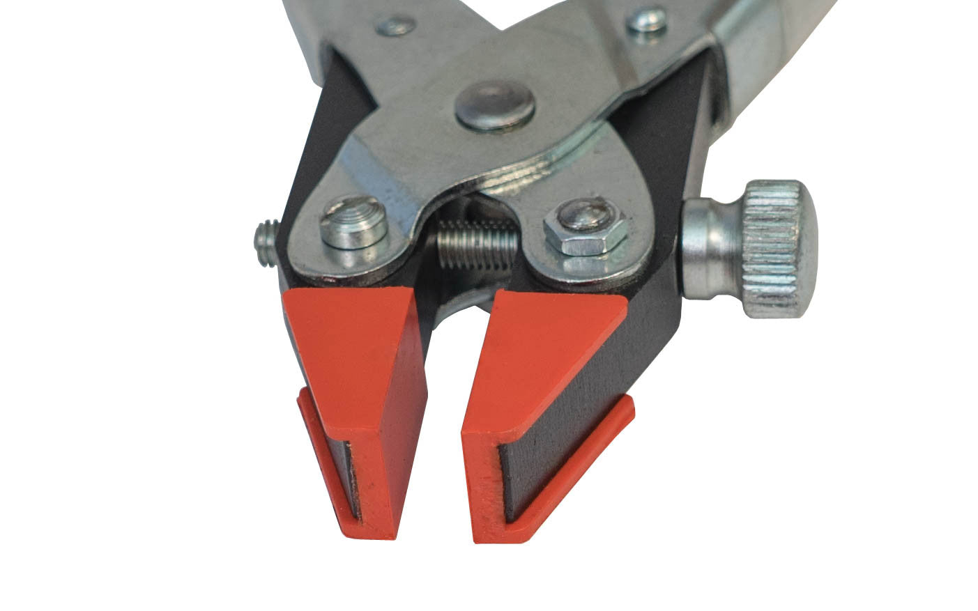Maun Parallel Action Clamping Plier ~ Smooth Plastic Jaws Closeup