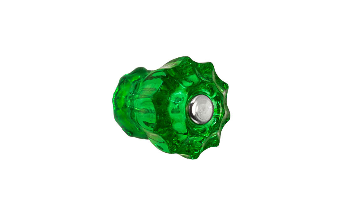 Fluted Glass Knob ~ Forest Green ~ 1