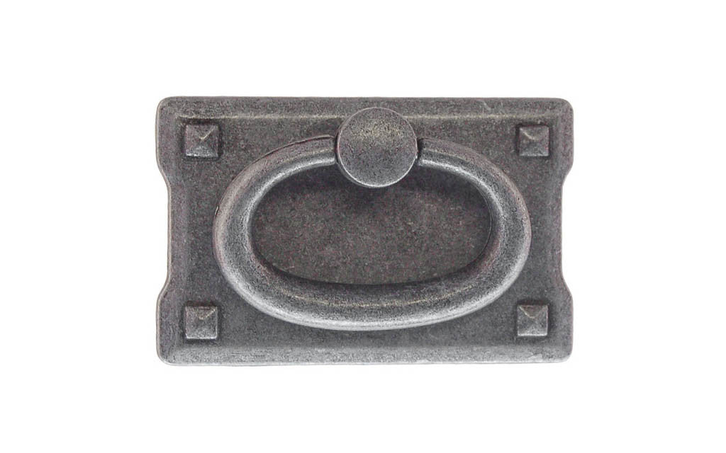 Mission-Style Drop Ring Pull ~ Smaller Size ~ Pewter Finish