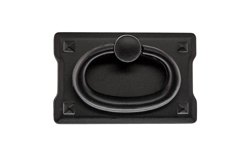 Mission-Style Drop Ring Pull ~ Smaller Size ~ Flat Black Finish
