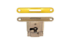 Mini Full-Mortise Cabinet & Drawer Lock with Strike ~ Vertical View for use on Drawers