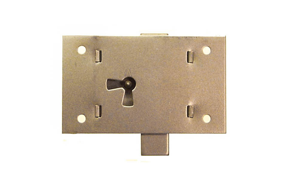 Surface Cabinet Lock ~ Vertical View for Drawers ~ Large Size