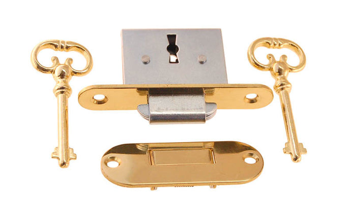 Lock for Desks & Chests ~ Rounded Edge Style