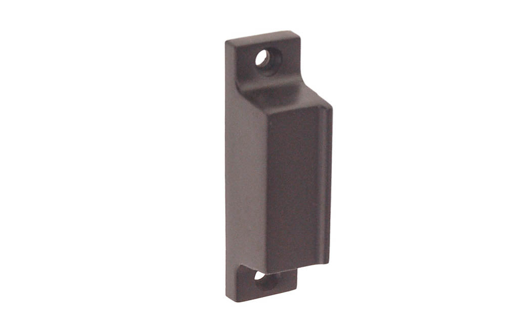 Solid Brass Box Strike for Screen Door Latch ~ Oil Rubbed Bronze Finish