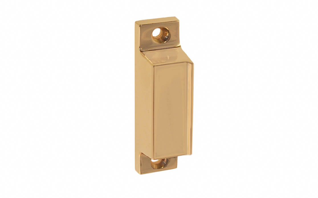 Solid Brass Box Strike for Screen Door Latch ~ Non-Lacquered Brass (will patina over time)