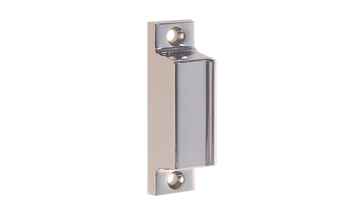 Solid Brass Box Strike for Screen Door Latch ~ Polished Nickel Finish