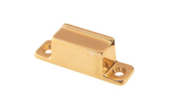 Solid Brass Box Strike ~ Lacquered Brass Finish