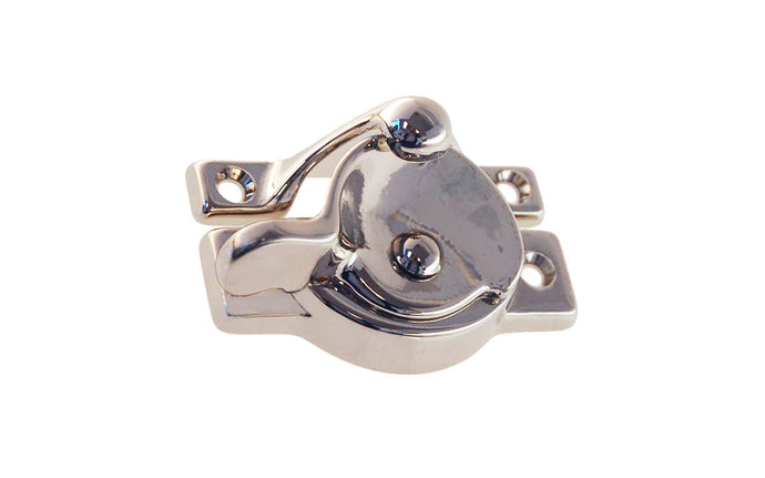 Solid Brass Sash Lock With Square Corners ~ Polished Nickel Finish
