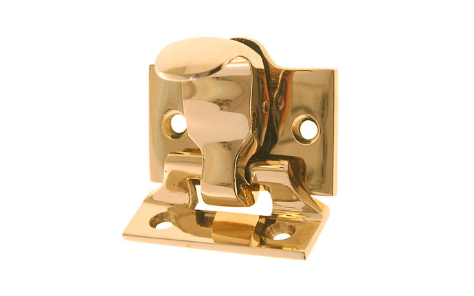 Spring Loaded Forged-Bronze Sash Lock & Lift ~ Lacquered Brass Finish