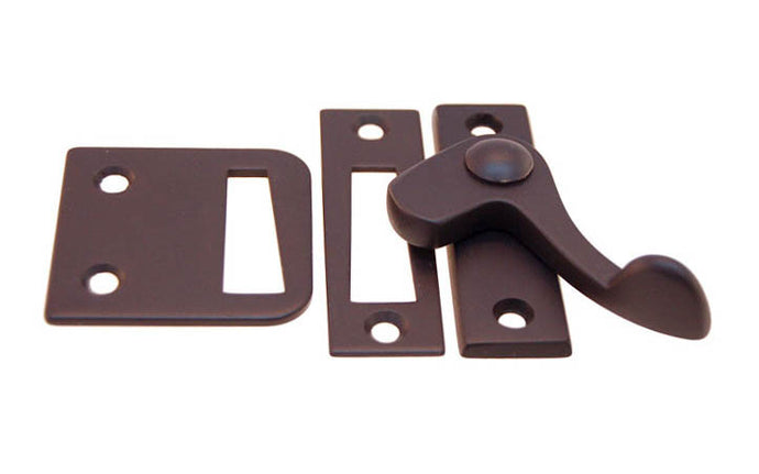 Solid Brass Lever Latch ~ Right Hand Operation ~ Oil Rubbed Bronze Finish