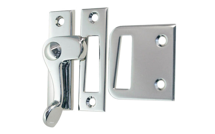 Solid Brass Lever Latch ~ Left Hand Operation ~ Polished Nickel Finish