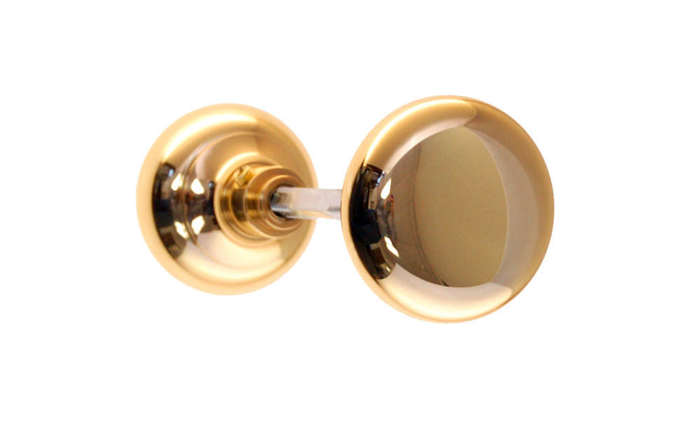 Brass Classic Smooth Doorknob ~ Lacquered Brass