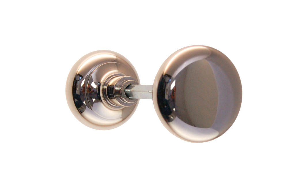 Brass Classic Smooth Doorknob ~ Polished Nickel Finish