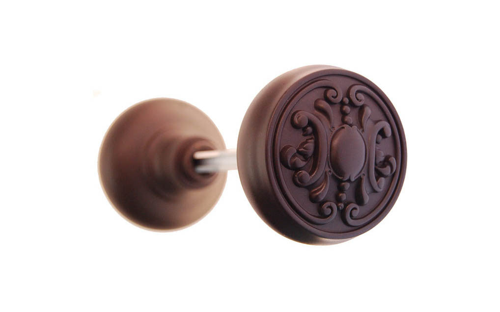 Solid Brass Core Ornate Doorknob ~ Oil Rubbed Bronze Finish