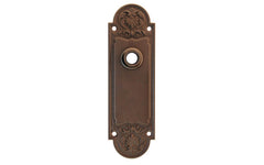 Ornate Brass Escutcheon Door Plate ~ Oil Rubbed Bronze Finish