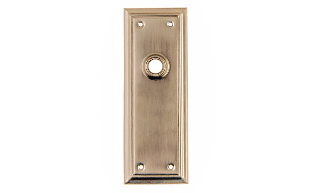 Brass Escutcheon Door Plate ~ Brushed Nickel Finish