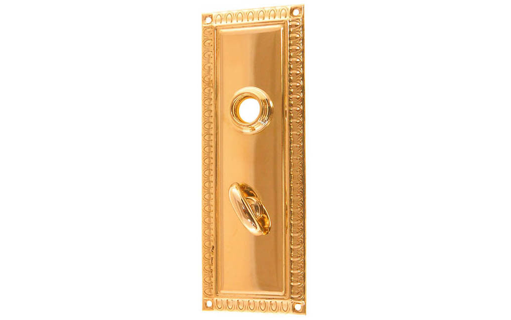 Brass Escutcheon Door Thumb Turn Plate ~ Non Lacquered Brass (will Patina  Naturally Over ...