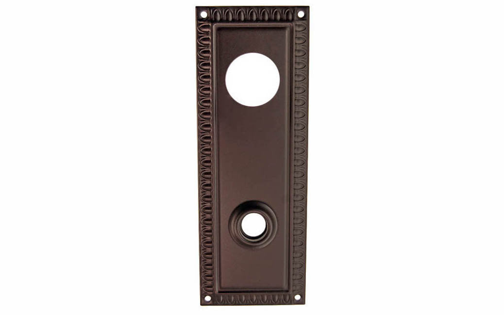 Brass Escutcheon Keyway Cylinder Door Plate ~ Oil Rubbed Bronze Finish