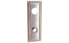 Brass Escutcheon Keyway Cylinder Door Plate ~ Polished Nickel Finish