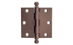 "Classic Ball-Tip Door Hinge ~ 3"" x 3"" ~ Oil Rubbed Bronze Finish"