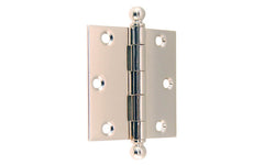 "Classic Ball-Tip Door Hinge ~ 3"" x 3"" ~ Polished Nickel Finish"