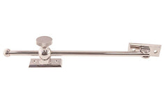 "Solid Brass Casement Adjuster Stay ~ 10"" Length ~ Polished Nickel Finish"