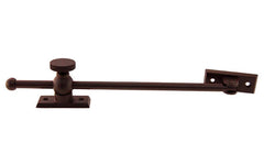 "Solid Brass Casement Adjuster Stay ~ 10"" Length ~ Oil Rubbed Bronze Finish"