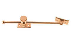 "Solid Brass Casement Adjuster Stay ~ 10"" Length ~ Non-Lacquered Brass (will patina naturally over time)"