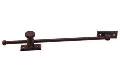"Solid Brass Casement Adjuster Stay ~ 12"" Length ~ Oil Rubbed Bronze Finish"