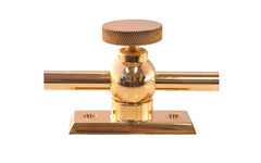 Solid Brass Casement Adjuster Stay Closeup
