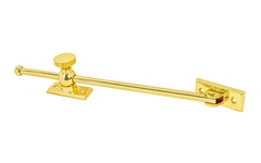 "Solid Brass Casement Adjuster Stay ~ 12"" Length"
