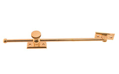 "Solid Brass Casement Adjuster Stay ~ 12"" Length ~ Lacquered Brass Finish"