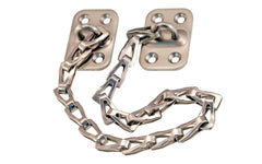 "Transom Chain With Steel Base ~ 12"" long ~ Brushed Nickel Finish"