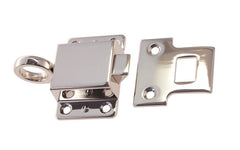"Solid Brass Transom Window Latch ~ 2-1/8"" x 1-1/2"" ~ Polished Nickel Finish"
