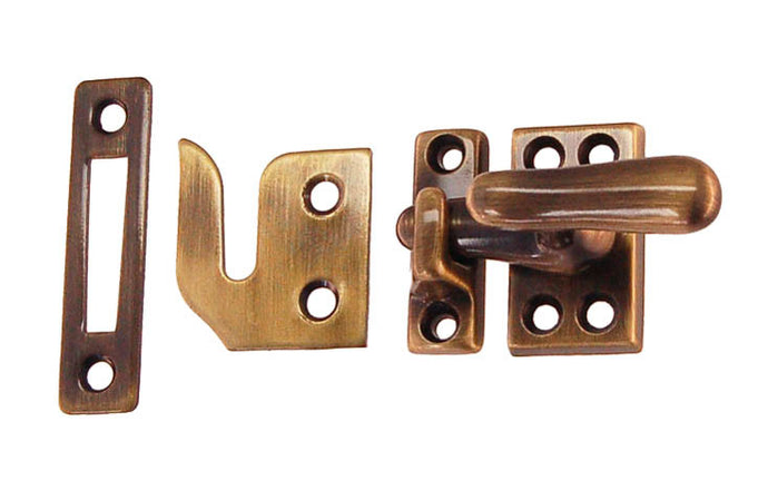 Classic Solid Brass Casement Window Latch ~ 1-9/16