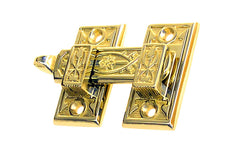 Solid Brass Ornate Shutter Bar - Latch for Shutters - Shutter Latch - Cabinet Bar - Cabinet Latch with Handle - Brass - 8815 - Victorian Interior Shutter Bar - Ornate Design - Detailed - Non-Lacquered Brass (will patina naturally over time)
