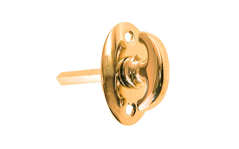 Classic Solid Brass Thumb Turn ~ Non-Lacquered Brass (will patina naturally over time)