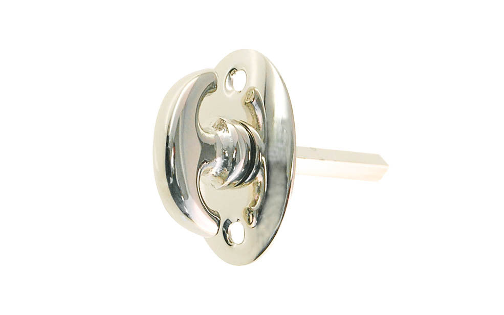 Classic Solid Brass Thumb Turn ~ Polished Nickel Finish