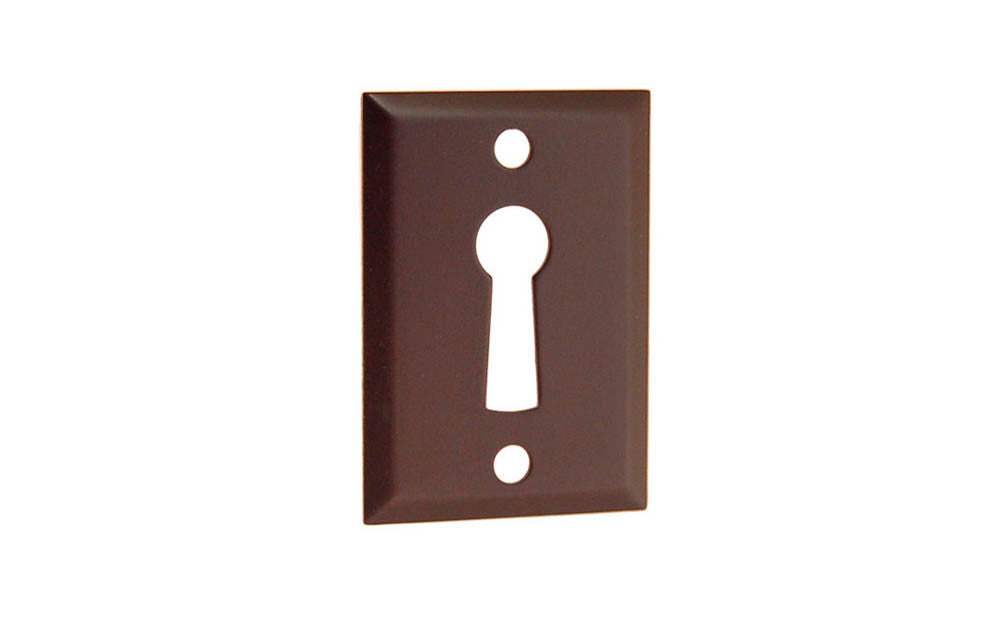 Classic Brass Rectangle Keyhole ~ Oil Rubbed Bronze Finish