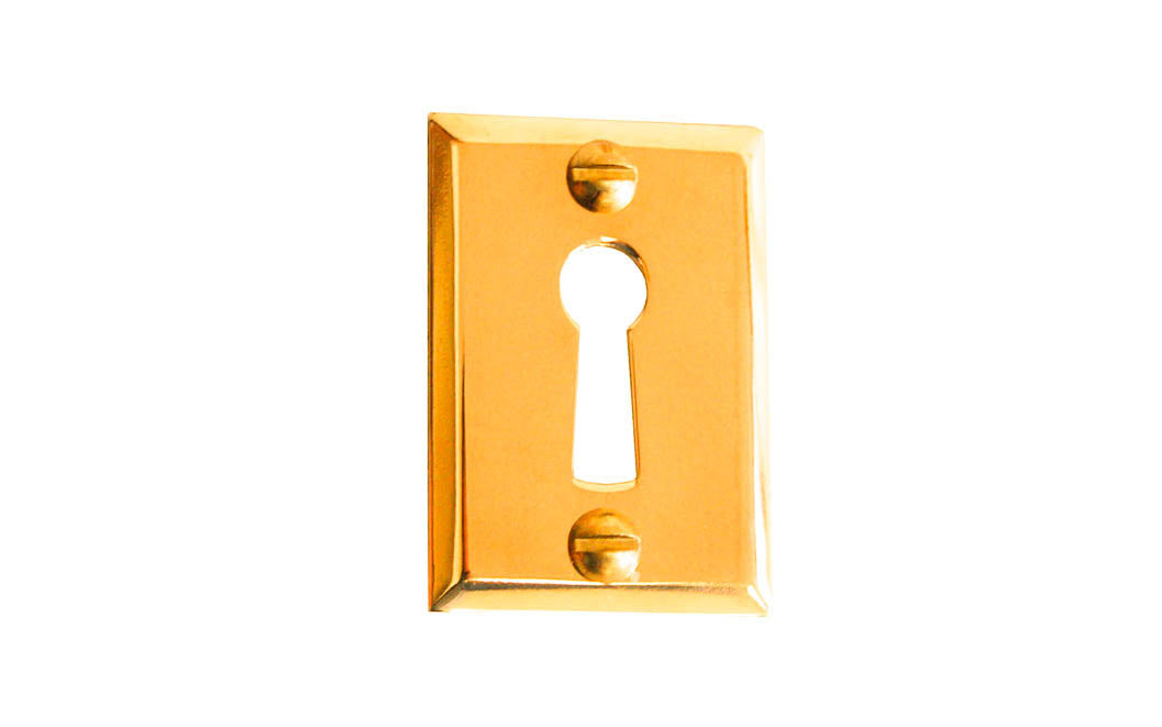 Classic Brass Rectangle Keyhole ~ Lacquered Brass Finish