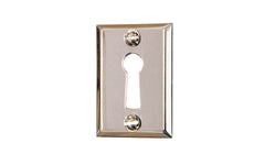 Classic Brass Rectangle Keyhole ~ Polished Nickel Finish