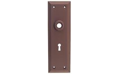 Solid Brass Escutcheon Door Plate with Keyhole ~ Oil Rubbed Bronze Finish