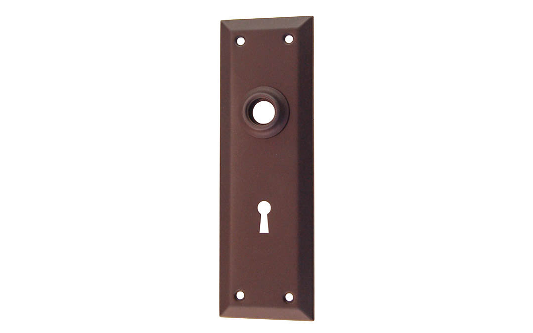 Brass Escutcheon Door Plate with Keyhole ~ Oil Rubbed Bronze Finish