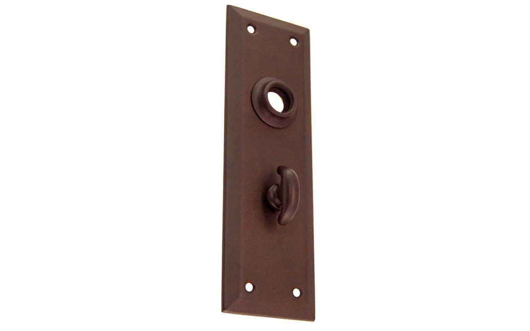 Brass Escutcheon Door Thumb Turn Plate ~ Oil Rubbed Bronze Finish