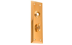 Brass Escutcheon Door Thumb Turn Plate ~ Non-Lacquered Brass (will patina naturally over time)